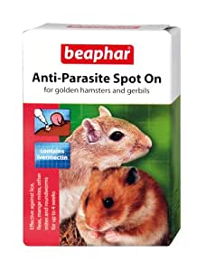 Beaphar Anti-Parasite Spot-On for Golden Hamsters and Gerbils(Pack of 2)