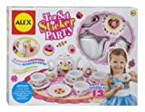 Children's 13 Piece Tea Set Party with Over 100 Decorate Yourself Stickers by Alex