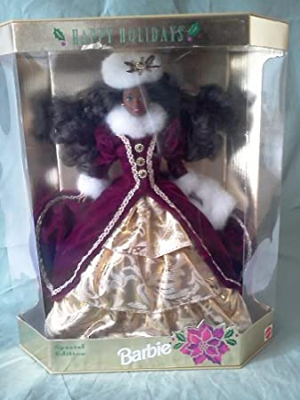1996 AA Happy Holidays Barbie by Mattel