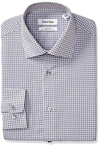 Calvin-Klein-Mens-Regular-Fit-Non-Iron-Textured-Check-Shirt