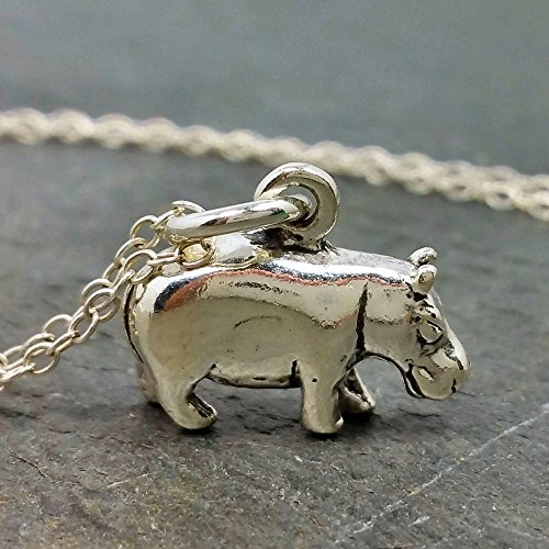 Hippopotamus Necklace - 925 Sterling Silver