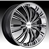 Cruiser Alloy Shadow 18x7.5 Machined Black Wheel / Rim 5x4.5 & 5x120 with a 42mm Offset and a 74.10 Hub Bore. Partnumber 912MB-8755742