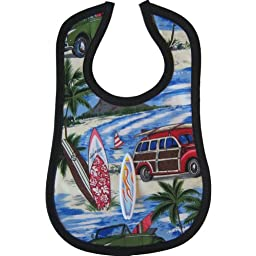 Mini Maniacs - Surf\'s Up Novelty Bib with Toy Surfboard