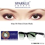 New Sparkle Zero Power Gray Color Monthly Contact Lens with Free UV Sunglass (2 Lens Pack) By Visions India.