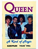 QUEEN: Freddie, Brian, Roger, John 1986 A KIND OF MAGIC TOUR REPRO Poster Approximate size 11.7
