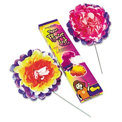 "KolorFast® 0059600 - TISSUE PAPER FLOWER KIT, 10"", 7 PER KIT, ASSORTED COLORS"