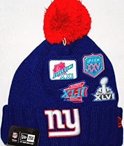 New York Giants New Era NFL Super Bowl Champions Commemorative Knit Hat by New Era