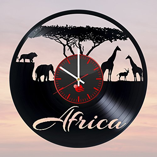 Africa-Safari-HANDMADE-Vinyl-Record-Wall-Clock-Get-unique-living-room-wall-decor-Gift-ideas-for-children-girls-and-boys-Wild-World-Unique-Art-Leave-us-a-feedback-and-win-your-custom-clock