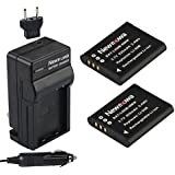 Newmowa Li-50B Battery (2-Pack) and Charger kit for Olympus LI-50B and Olympus SZ-10 SZ-12 SZ-15 SZ-16 iHS Sz-20 SZ-30MR SZ31MR iHS TG-610 TG-630 HIS TG-810 TG-820 TG-830 HIS XZ-1 XZ-16 iHS SP-810UZ Stylus Tough TG-860 Digital Camera + More!!