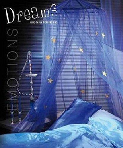 天蓋カーテン 蚊帳 モスキートカーテン/ブルー お星様