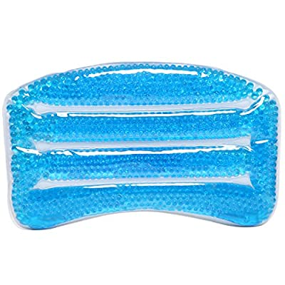 MyGift® Large Deluxe Blue Soothing Soft Gel Filled Bathtub / Hot Tub / Spa Bath Pillow with Triple Suction Cups