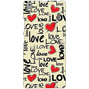Lenovo K3 Note - PA1F0001IN Back Cover - Silicon Love Designer Cases