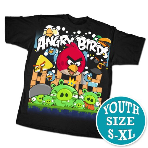 Angry Birds Angriest Attack Youth T-shirt