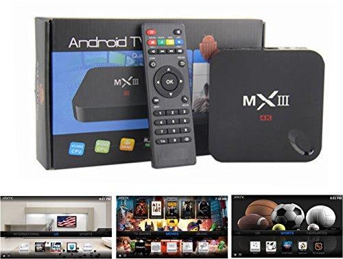 Diaotec(Tm) Mx3 (Mx-Iii) Smart 4K Tv Box Mini Pc Streaming Media Player, Android 4.4, Quad Core Cpu Amlogic S802 Cortex A9@ 2Ghz, Octa Core Arm Mali-450 Gpu, 2Gb Ram, 8Gb Rom, 2.4G/5G Dual Wifi, Miracast Dlna Xbmc-All In One Entertainment System + 4In1 Ca