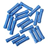 20 Blue Insulated Straight Wire Butt Connector Crimp Terminal 14-16AWG
