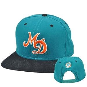 NFL Miami Dolphins Vintage Old School Flat Snapback New Era Pro Model Hat Cap by New Era