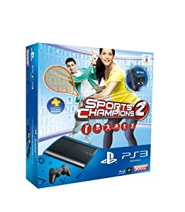 PlayStation 3 - Konsole Super Slim 500 GB (inkl. DualShock 3 Wireless Controller + Move Starter Pack + Sports Champions 2)