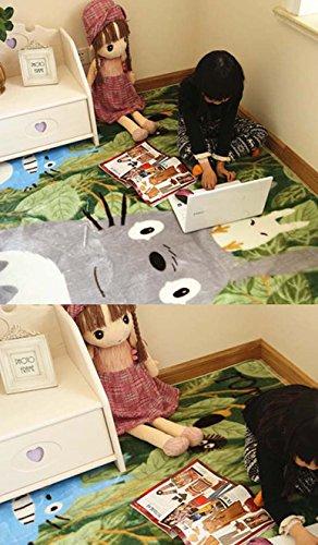 YOYOMALL My Neighbor Totoro Carpet,Kids Cartoon Crawling Mat.
