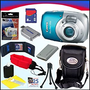 Canon PowerShot D10 12.1 MP Waterproof Digital Camera + 8GB Deluxe Accessory Kit