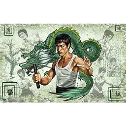 Bruce Lee (38inch x 24inch / 96cm x 60cm) Silk Printing - Silk Print Poster - 42DE4B