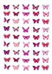 45 x Pink Butterflies Edible Cake Top...