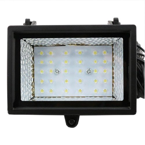 Nuoya001 Black Waterproof Outdoor Solar Light Power Warm White 30 Led Garden Landscape Lamp