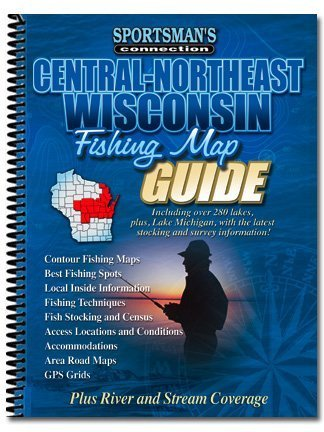 Central - Northeast Wisconsin (Fishing Maps from Sportsman's Connection)