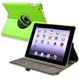 eForCity 360-degree Swivel Leather Case Compatible with Apple? iPad? 2 / iPad? 3rd Gen / The new iPad?/ iPad? with Retina display/ iPad? 4, Green