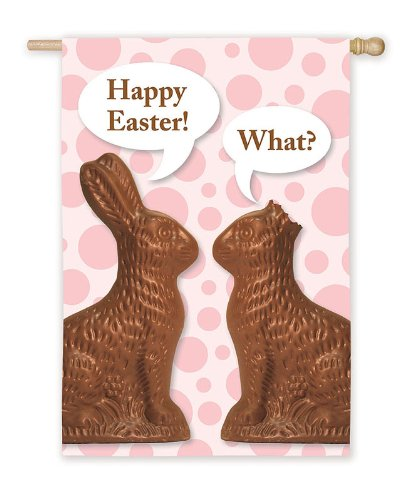 Chocolate Bunnies Silk Reflections Regular Size Flag