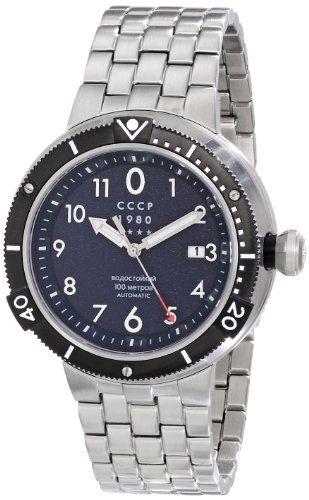 CCCP Men's CP-7004-22 Kashalot Analog Display Japanese Automatic Silver Watch
