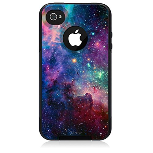 iPhone 4 / 4S Case, Unnito [Dual Layer]1 Year Warranty Case Protective [Custom] Commuter Protection Cover (Black - Nebula Galaxy) (Iphone 4s Custom Case compare prices)