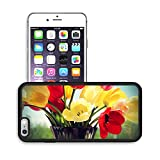 MSD Premium Apple iPhone 6 Plus iPhone 6S Plus Aluminum Backplate Bumper Snap Case IMAGE ID 29610413 Bouquet of colorful spring tulips in a vase on a background of a window