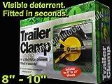 "Caravan Trailer High Security 8"" inch - 10"" Wheel Clamp Lock"