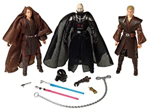 Star Wars Evolutions Anakin Skywalker to Darth Vader 3 Figure set E3 Revenge of the Sith ROTS