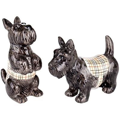 Charles Sadek Import Co - Black Scottish Terriers Sitting & Standing Salt & Pepper Shakers from Charles Sadek Import Co