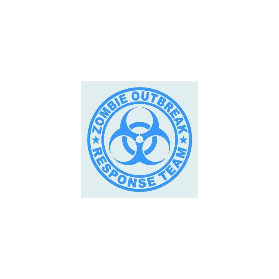 Zombie Outbreak Response Team LIGHT BLUE 5 Die Cut Vinyl Decal Sticker