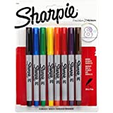 Sharpie Ultra Fine Point Permanent Markers, 8 Colored Markers(37600PP)