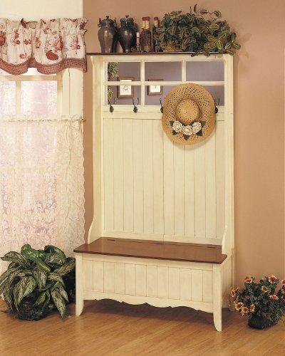 Powell Furniture French Country Hall Tree With Storage Bench Sale