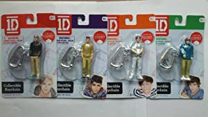 ONE Direction Set of 4 Key Chains by The Wish Factory Inc