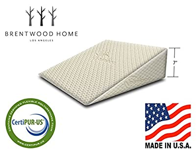 Brentwood Therapeutic Foam Bed Wedge Sleep Pillow with Washable Bamboo Cover by Brentwood Home