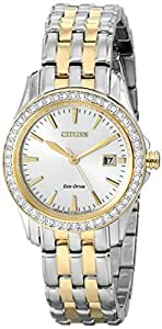 Citizen Women's EW1908-59A Silhouette Crystal Analog Display
