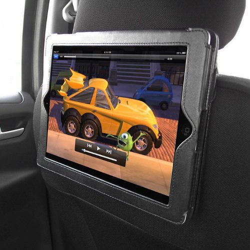 iTALKonline PADWEAR Executive BLACK Wallet FLIP Case Cover with In Car Headrest Mount / Holder For Apple iPad 2 iPad2 (Wi-Fi and Wi-Fi + 3G) 16GB 32GB 64GB