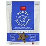 Cloud Star, Soft &amp; Chewy Buddy Biscuits Dog Treats, Bacon and Cheese Flavor, 6-Ounce Pouches (Pack of 4)