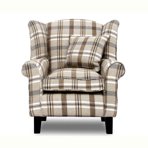 Armchairs - Wing Back Chairs - Living Room Furniture - Soft Seating - Tartan