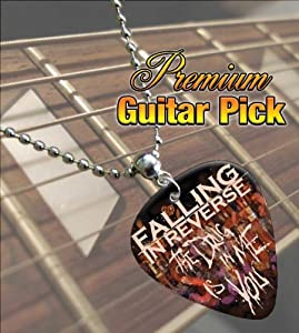 Printed Picks Company Falling In Reverse The Drug Premium Guitar Pick Necklace