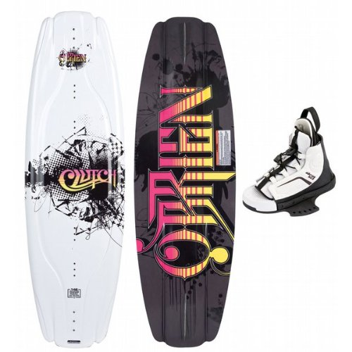 Buy Low Price O'Brien Clutch Wakeboard 142 w/ Kick Bindings Black Mens Sz 142cm-M-L (8-10) (B00405GYWE)