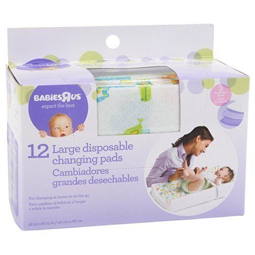 Babie R Us Large Disposable Changing Pads - 12 Pack - 1