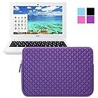 Evecase Acer Chromebook 11 Sleeve, Premium Neoprene Sleeve Case Travel Carrying Storage Computer Bag for Acer Chromebook 11 CB3-111-C670/ C720P / C720 / C710 / C7 11.6-Inch Series ChromeBook Laptop - Purple