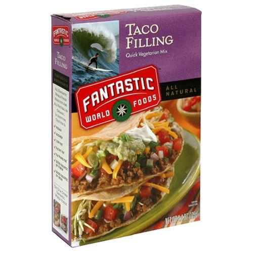 Fantastic Foods Taco Filling, Quick Vegetarian Mix,  Vegan, 4.4-Ounce Boxes (Pack of 12)