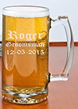 Personalize Beer Mug 27oz GroomsmanWedding Favors Mug - Free Engraving